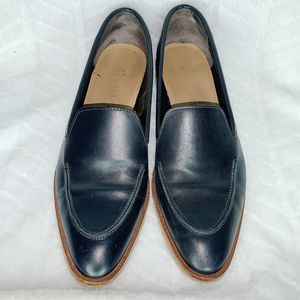 EVERLANE Blue Flat Loafers Leather Size 8
